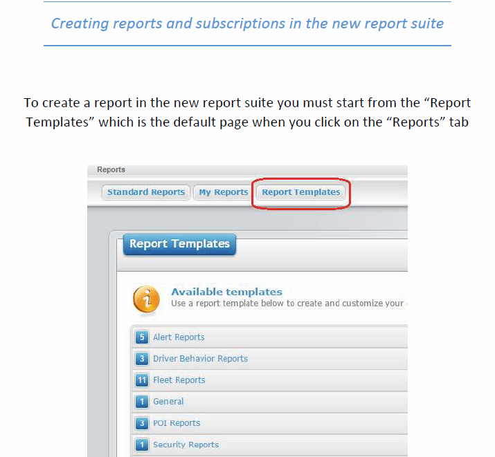 New Report Suite
